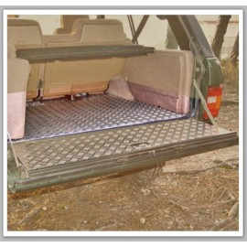 Recouvrement alu strié plancher coffre AFN Range Rover Classic