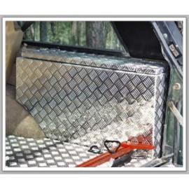 Recouvrement alu strié boite a outils coffre AFN Range Rover Classic
