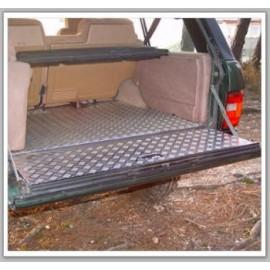 Recouvrement alu strié plancher + hayon coffre AFN Range Rover Classic