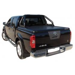 Couvre benne alu noir UPSTONE pour Nissan Navara D40 Dble Cab (05-15)