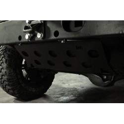Protection reservoir acier zingué noir D6 Defender 90