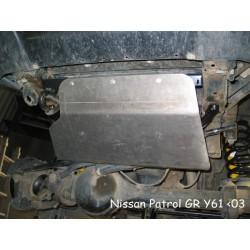 Protection avant alu N4 Nissan Patrol Y61 GR (98-03)